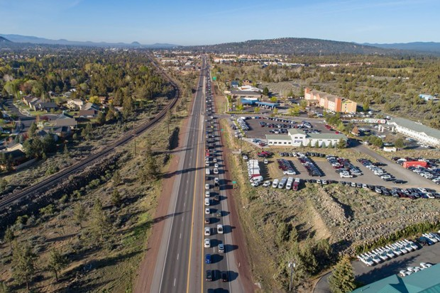 Highway 97 is one of the more congested roads in Bend, and a headache for drivers passing through the city. - COURTESY ODOT
