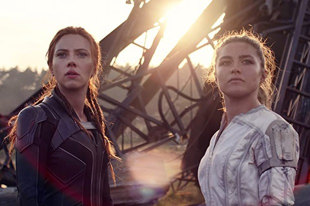 """Scarlett Johansson and Florence Pugh blow things up really well in """"Black Widow."""" - COURTESY MARVEL"""
