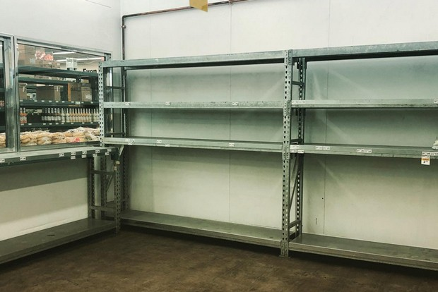 """Produce cooler shelves stand empty. """"While supply chain labor is expected to remain challenging for the next few quarters, we remain focused on delivering profitable growth as our industry continues to recover,"""" stated US. Foods CEO and Chairman Pietro Satriano in a statement Aug. 9. - KIM CURLEY REYNOLDS"""