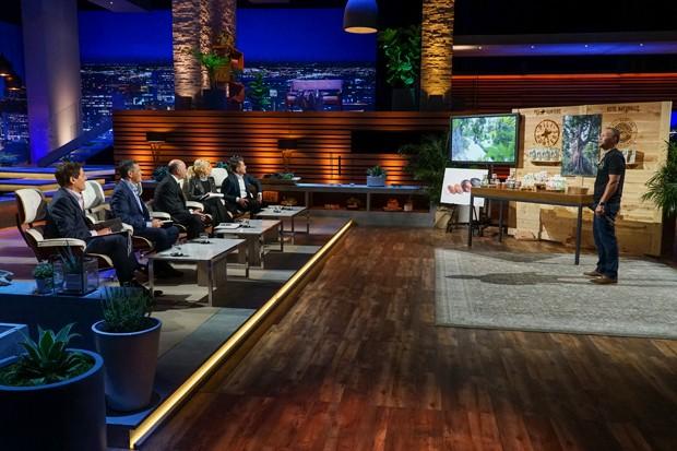 """Jason Thomas pushes the pili nut on the TV show, """"Shark Tank."""" - COURTESY JASON THOMAS"""