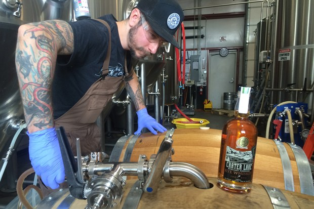 A local brewer works the magic on all that barrel-aged goodness. - COURTESY BEND BREWING CO.