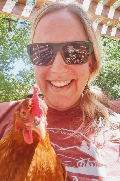 """""""Me and Chili Peppa! Named after a favorite menu item...Would never put her on the menu though!"""" said Amanda Vidinha, whose family owns Aina, voted Best Food Cart in our 2021 Best of Central Oregon poll. - SUBMITTED"""