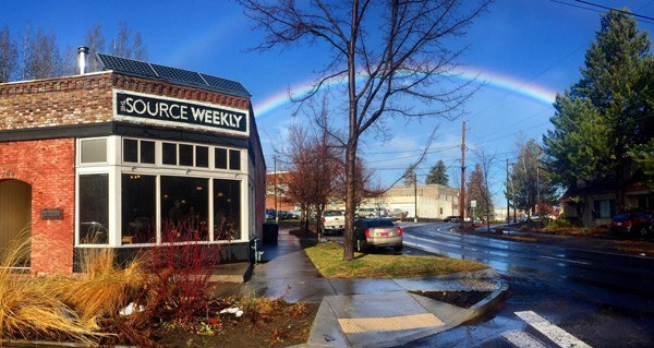 A rainy day brought a double rainbow over downtown Bend this past week.