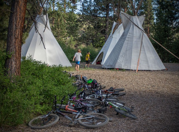 Cougar Camp culminates in an over-nighter in teepees, for kids 8-13. - BPRD