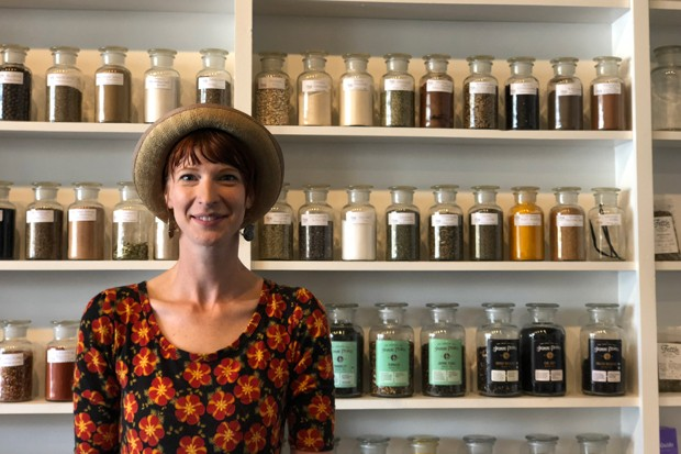 Owner Katelyn Dexter wants visitors to explore Fettle by putting their noses in jars. - LISA SIPE