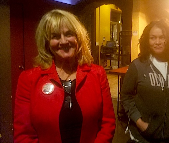 Patti Adair at an election night party Tuesday night. - WYATT GAINES