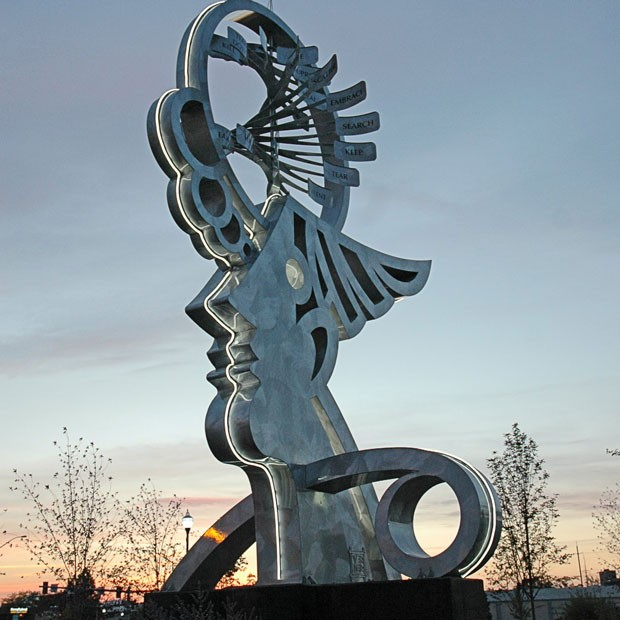 """""""Thoughts of Flight"""" by local artist Jerry Werner, located at Eastern Y Gateway in Redmond. - COURTESY: RCAPP FACEBOOK"""