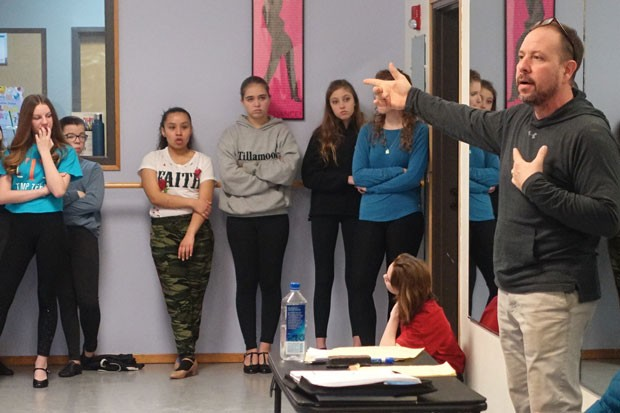 "Director David DaCosta leads rehearsal of ""West Side Story."" - ELIZABETH WARNIMONT"