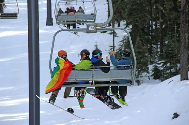 Rainbows and tie dye hit the mountain this weekend for Winter PrideFest. - ALEX LOFTING