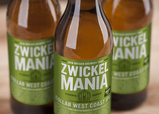 The 2019 Zwickelmania collaboration beer, a West Coast IPA. - OREGON BREWERS GUILD