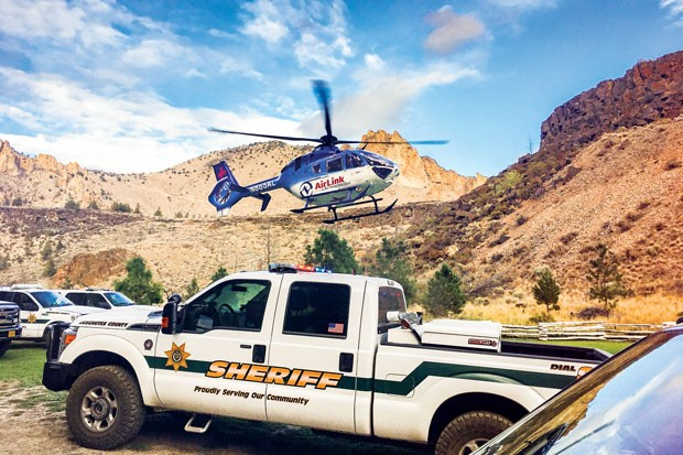 Air Link provides the Air Operations Team with helicopter support. - DCSO SEARCH AND RESCUE