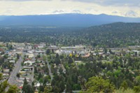 View from Pilot Butte Park in Bend.