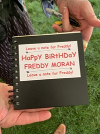 Moran's Birthday Booklet; filled with notes of well wishes