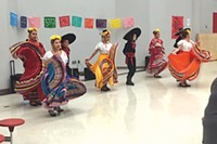 Students have the opportunity to dance in Ballet de Folklorico at Bear Creek Elementary, another grant-funded program.