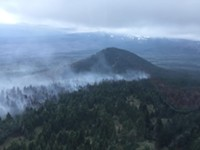 The Milli Fire west of Sisters, seen from the air Aug. 13.