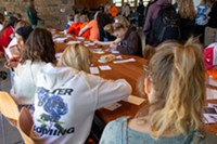 Students from Pacific Crest Middle School and Summit High School wrote letters to state representatives, urging them to take action to end gun violence in schools during the National School Walkout on Friday, April 20, 2018.