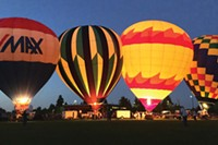 Balloons Over Bend night glow.