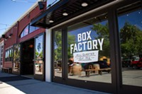 The Box Factory's breezeway will not only connect tenants and customers on either side of the building, but also act as a common area for businesses to organize pop-ups and block parties.