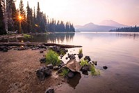 """This beautiful """"magic hour"""" shot is from @bendphototours. Join them for their Fall Sunset/Night Photography Workshop on Oct. 13! Tag @sourceweekly to be featured in Lightmeter."""