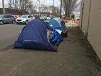 A homeless camp in Southeast Portland.