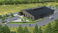 A rendering of pFriem's planned new facility in Cascade Locks, Ore.