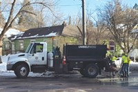 Bend street crews filling potholes.