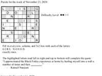 Pearl's Puzzle- Week of Nov. 23