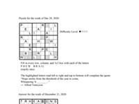 Pearl's Puzzle - Week Of Dec. 31