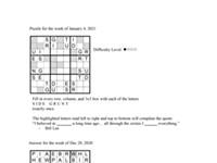Pearl's Puzzle - Week Of Jan. 7