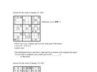 Pearl's Puzzle - Week of Jan. 28