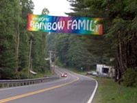 Rainbow Family Gathering on Santiam Pass
