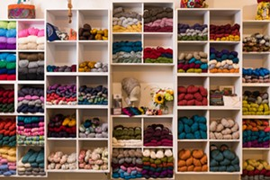 Knit Infinity Scarves at Fancywork Yarn Shop
