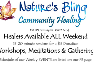Nature's Bling Healing Schedule