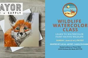 Wildlife Watercolor Class