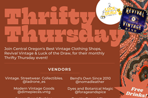 THRIFTY THURSDAY PARTY- Free bevs, live record spinning, local vendors + makers