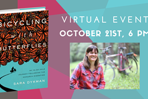 Zoom Author Event: Bicycling with Butterflies by Sara Dykman
