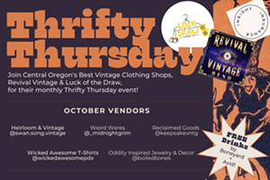 Thrifty Thursday Costume Party- Free bevs, good tunes, local resellers, 20% off costumed shoppers!