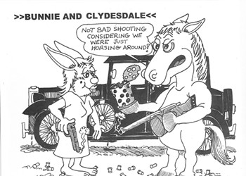 TGIF—Bunnie and Clydesdale