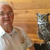 Jim Anderson with one of his favorite residents of the Natural World.