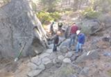 Trail builders making progress on COD, fall 2018. - Uploaded by Tucky