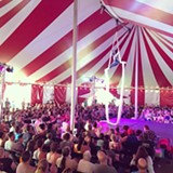 Aerialist, Laura Gwendolyn-Burch wows the crowd at the Venardos Circus! - Uploaded by Heather Atherton