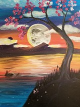 Artventure with Judy - Full Moon Paint Night - Uploaded by Judy Fuentes