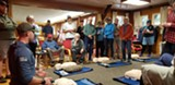 Adventure Medics instructor Adam Mack teaching the CPR portion of the WFA class. - Uploaded by msabelman
