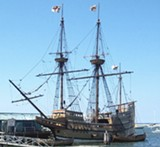Mayflower II replica docked in Plymouth - Uploaded by GenealogySociety