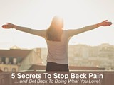 5 Secrets To Stop Back Pain and Get Back To Doing What You Love! - Uploaded by Bonnie Waker Yoga