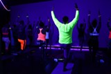 Blacklight Yoga at Wild Thing Yoga - Uploaded by Helen Cloots