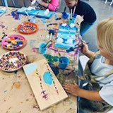 Rainbow sculptures from SpringBreak Camp 2019 - Uploaded by Roots Art & Nature School