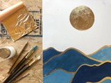 Gold Leaf Painting at The Haven - Uploaded by cbc