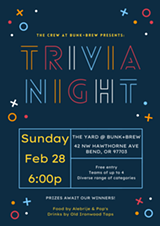 Bunk+Brew Presents: Trivia Night! - Uploaded by BunkandBrew