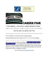 Drive Thru Career Fair Flyer - Uploaded by Regency Pacific Careers